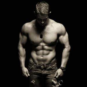 A picture of a muscular man