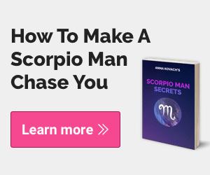 The Scorpio Man Secrets book cover with a learn more button