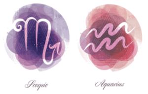 Scorpio and Aquarius zodiac signs