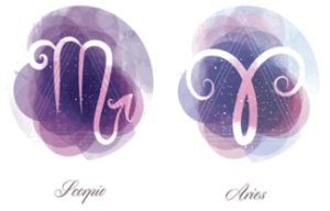 Aries and Scorpio zodiac signs