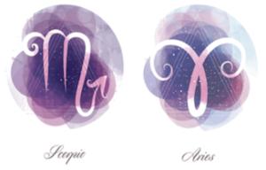 Aries and Scorpio zodiac signs