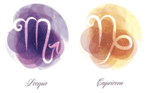 Capricorn and Scorpio zodiac signs