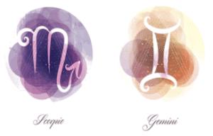 Gemini and Scorpio zodiac signs