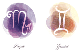 Gemini and Scorpio zodiac signs