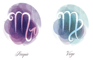 Virgo and Scorpio zodiac signs